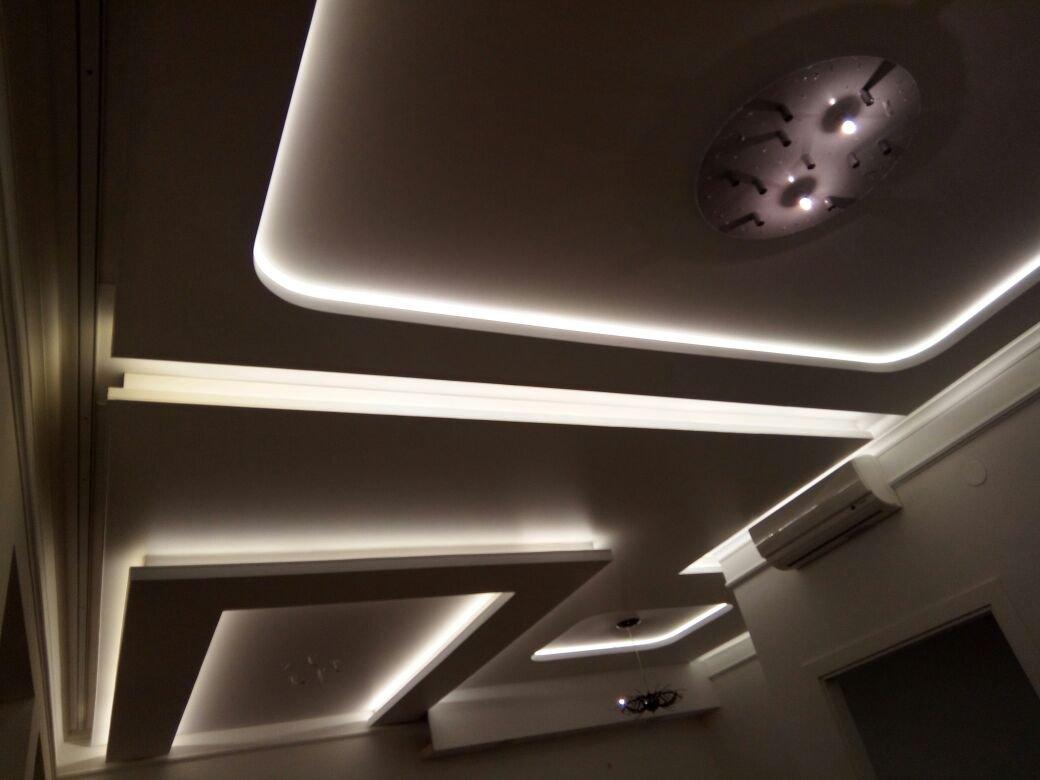 Фото - Парящий натяжной потолок в несколько плоскостей