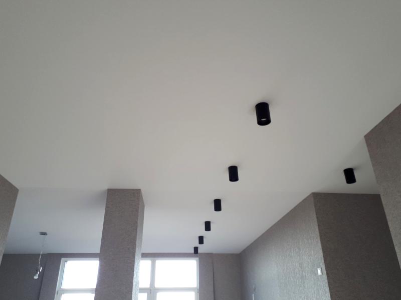 Фото - Тканевый натяжной потолок «Клипсо»