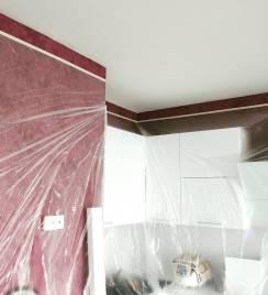Укрываем стены защитной плёнкой